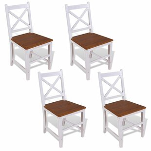 Mathew Solid Wood Dining Chair (Set Of 4) By August Grove