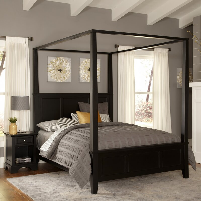 Alcott Hill Marblewood Canopy 2 Piece Bedroom Set & Reviews | Wayfair