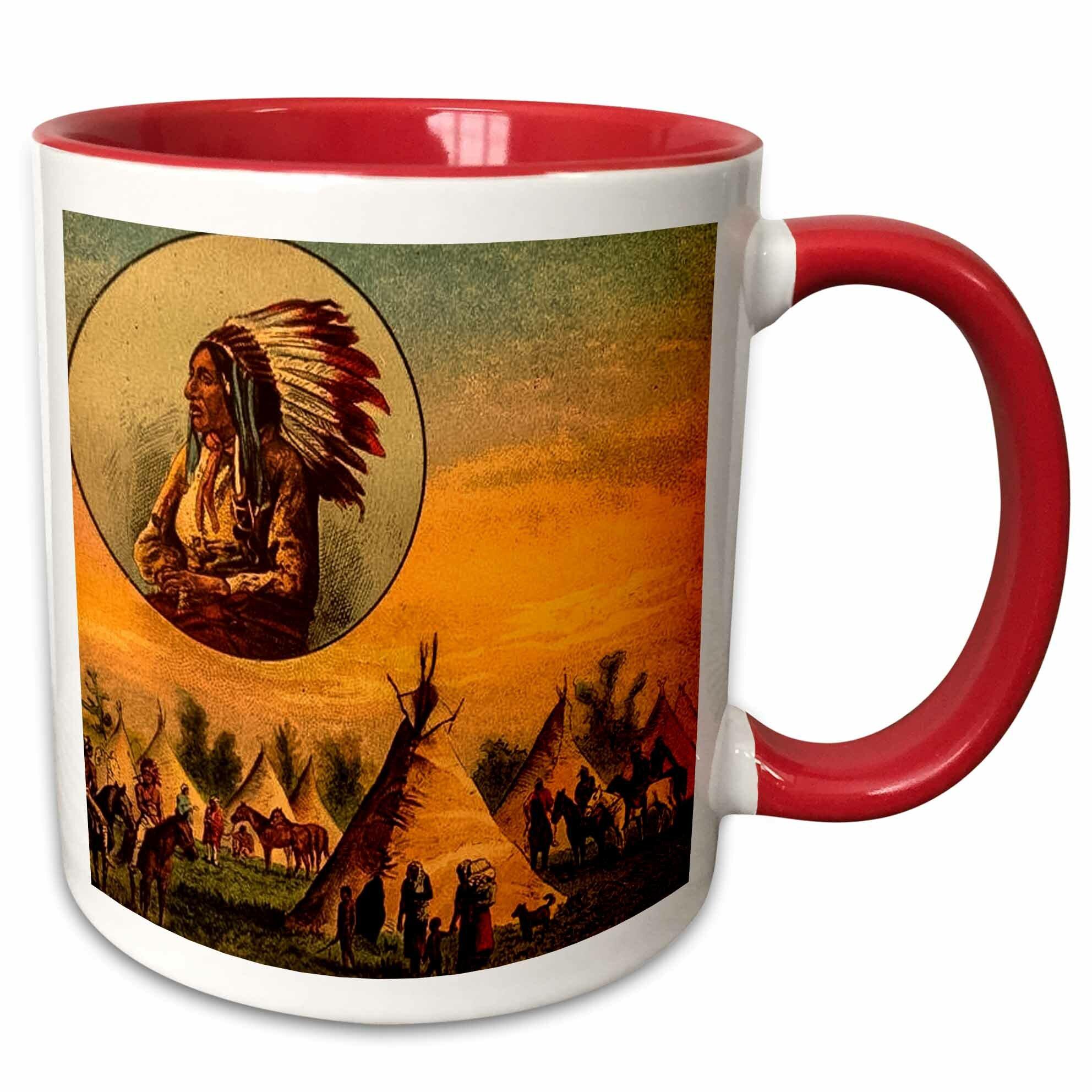 3drose Illustration Of Native American Coffee Mug Wayfair