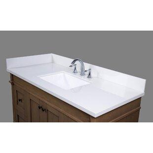 Thasos Engineered Marble 49 Single Bathroom Vanity Top