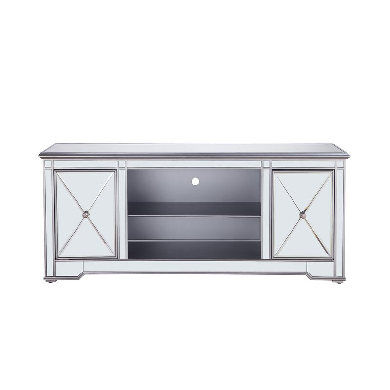 House Of Hampton Lilianna Mirrored Tv Stand For Tvs Up To 60 Reviews Wayfair