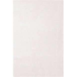 Mabel Hand Woven Wool White Area Rug