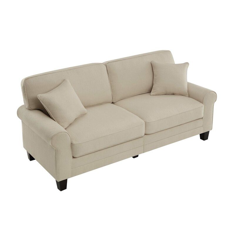 beachcrest home buxton rolled arm sofa reviews wayfair rh wayfair com rolled arm sofa and loveseat rolled arm sofa geiger