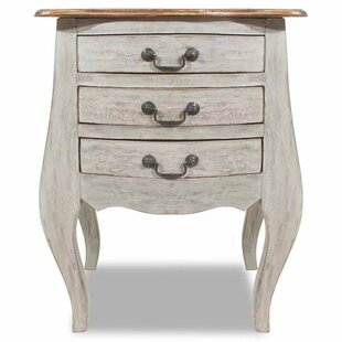 Alexie 3 Drawer Nightstand