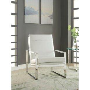 Sigala High Backrest Polyurethane Upholstered Metal Armchair by Orren Ellis