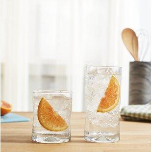 Impressions 16 Piece Glass Assorted Glassware Set