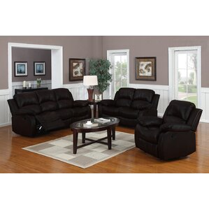 Classic 3 Piece Leather Living Room Set
