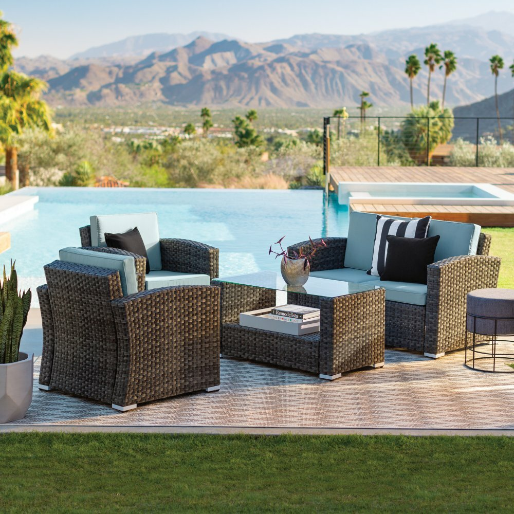 Orren Ellis Celestia 4 Piece Sofa Seating Group With Cushions Reviews Wayfair
