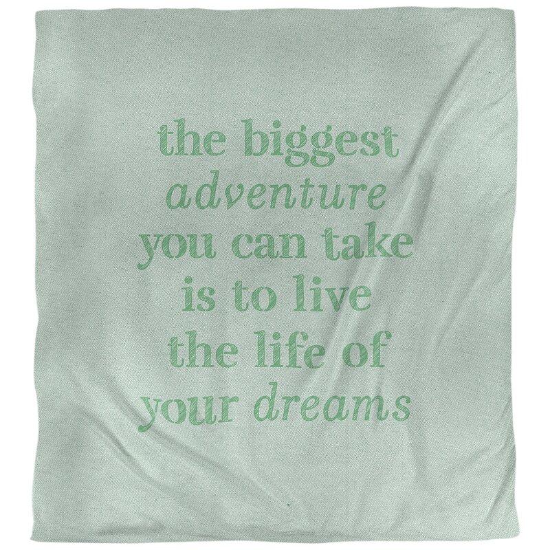 East Urban Home Quotes Handwritten The Biggest Adventure Single Reversible Duvet Cover Wayfair