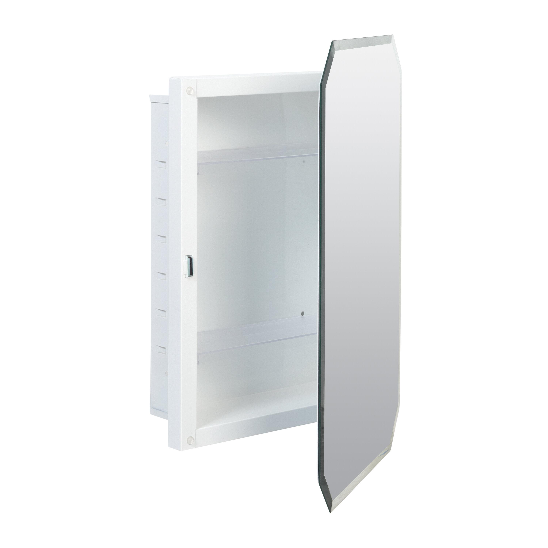 Picture of: Westling Recessed Frameless Medicine Cabinet With 3 Adjustable Shelves Reviews Birch Lane