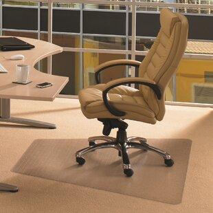 Cleartex Corner Workstation Straight Edge Chair Mat By Floortex