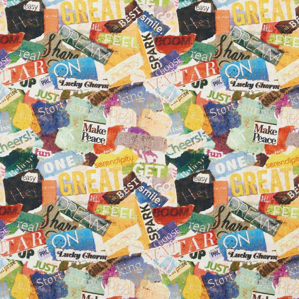 Wildon Home Word Collage Print Fabric Wayfair