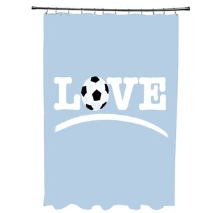 Bauer Love Soccer Word Single Shower Curtain