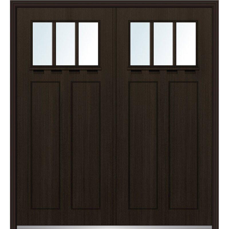 Verona Home Design Craftsman Shaker Fiberglass Prehung Front Entry