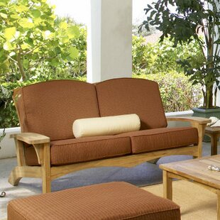 Frausto Teak Loveseat With Sunbrella Cushions by Millwood Pines 2019 Sale