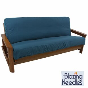 Solid Twill Box Cushion Futon Slipcover