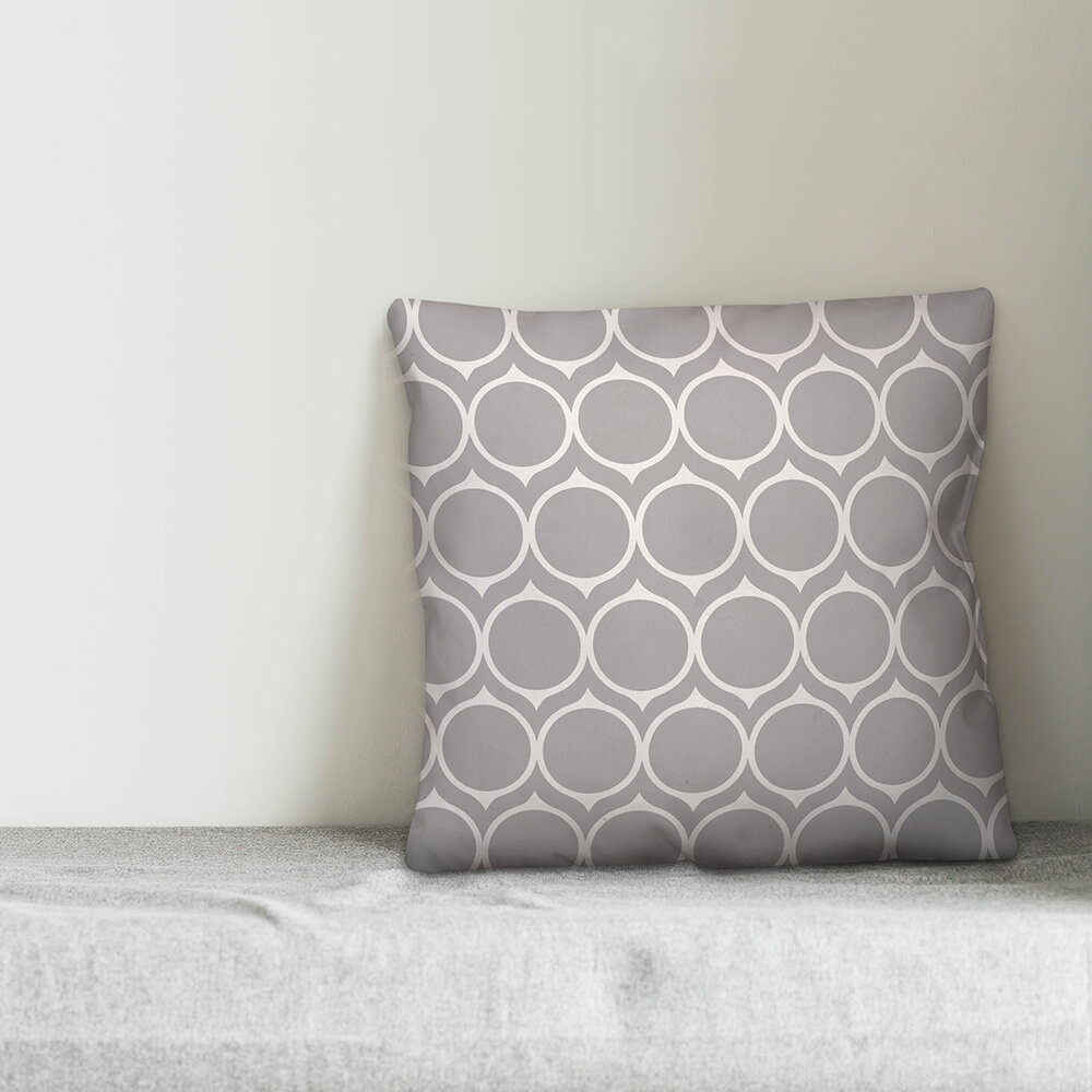 House Of Hampton Keele Mid Mod Circles Throw Pillow Wayfair