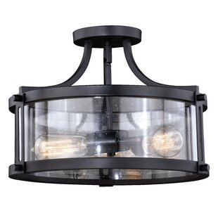 Loggins 3-Light Semi Flush Mount by Ivy Bronx