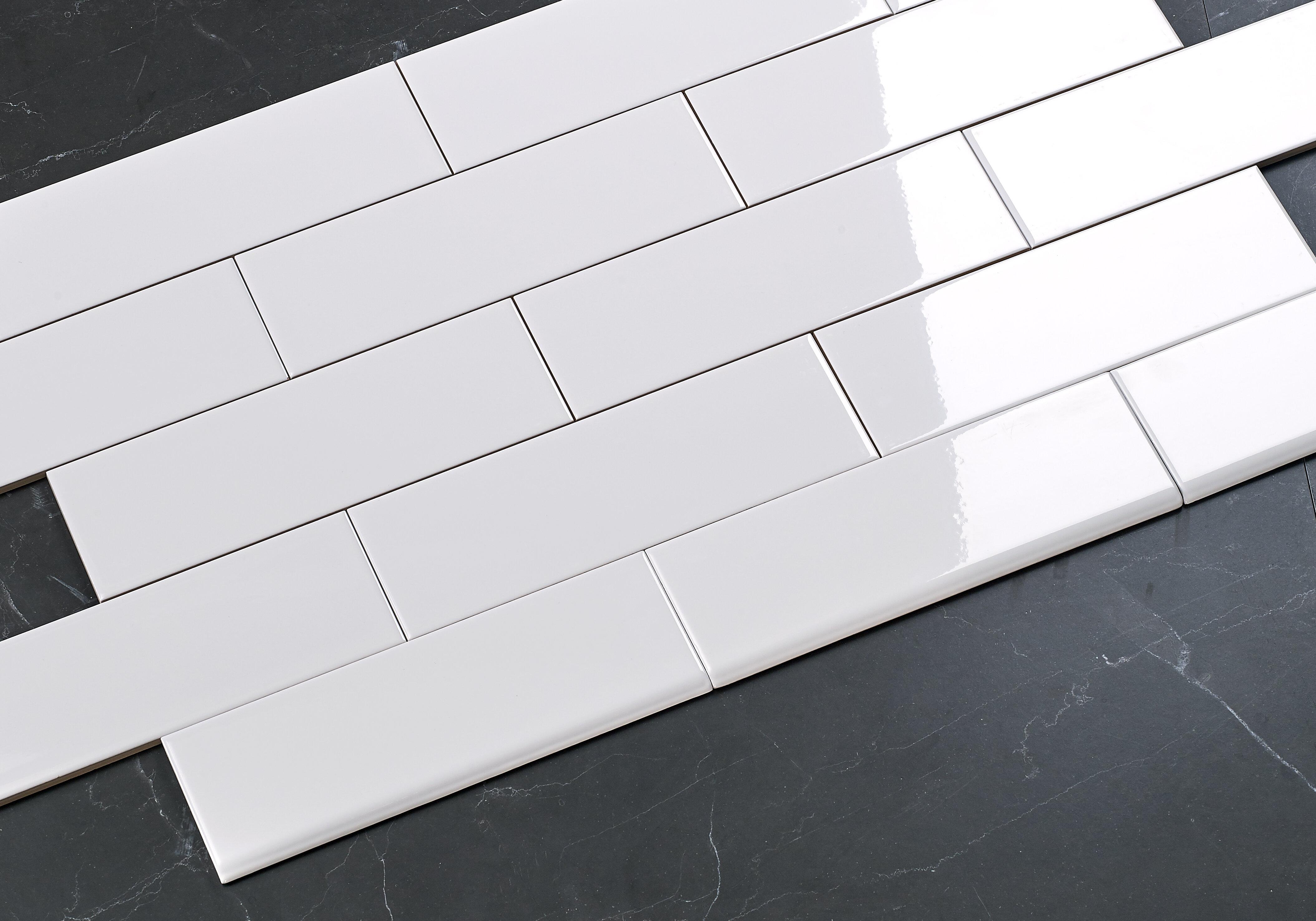 Glossy Ceramic Bullnose Tile Trim