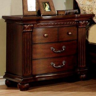 Dorcas 3 Drawer Nightstand by Astoria Grand