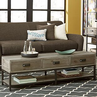Upson Bench Coffee Table by Three Posts
