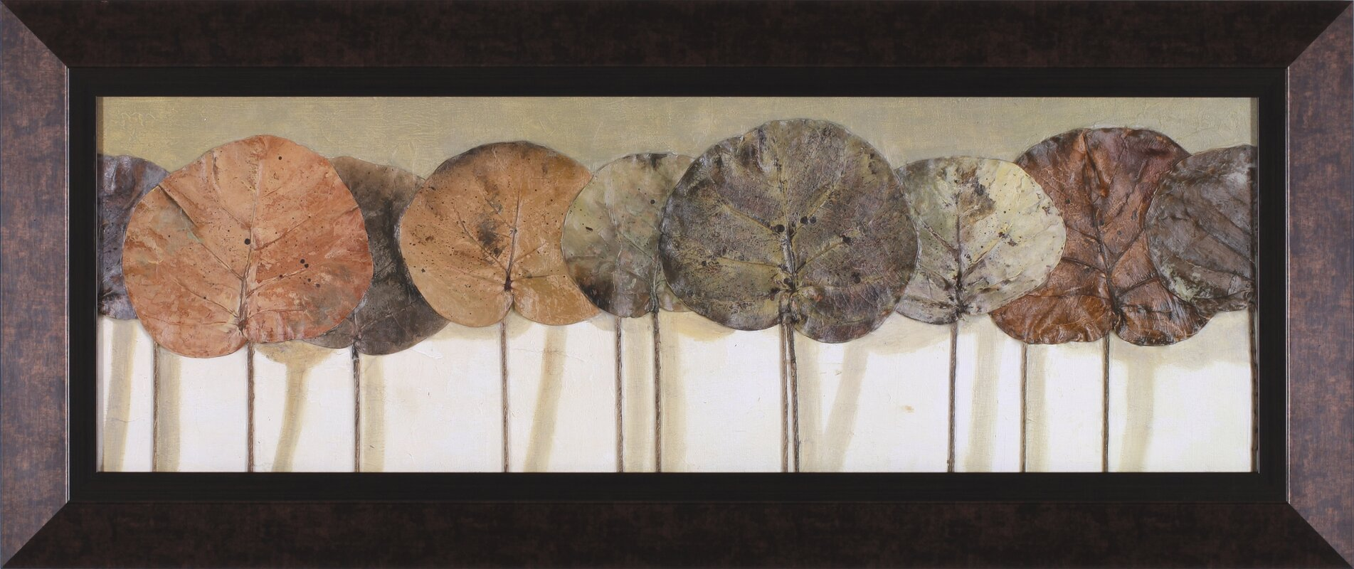Leaves Show II Framed Painting Print