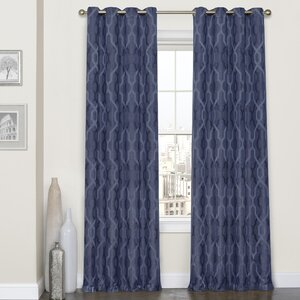Dennis Geometric Max Blackout Grommet Single Curtain Panel
