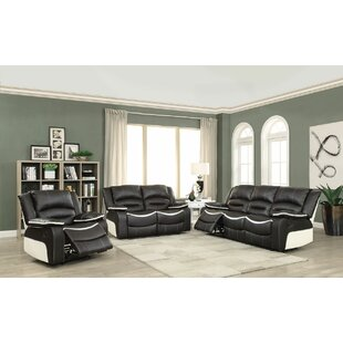 Burnie Reclining Motion 3 Piece Living Room Set by Brayden Studio