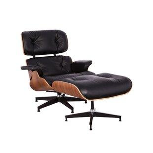 Orren Ellis Schwab Swivel Lounge Chair and Ottoman (Set of 2)