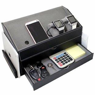 Velvet Multi-Device Charging Station and Desk Organizer