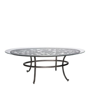 Woodard New Orleans Oval Umbrella Coffee Table (Set of 2)