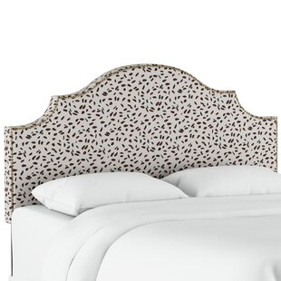 Grays Ferry Nail Button Notched Neo Leo Upholstered Panel Headboard by Wrought Studio