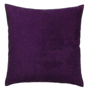 vintage faux suede throw pillow