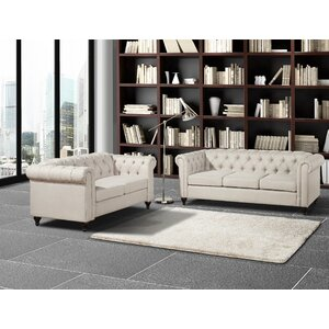 Chesterfield 2 Piece Living Room Set