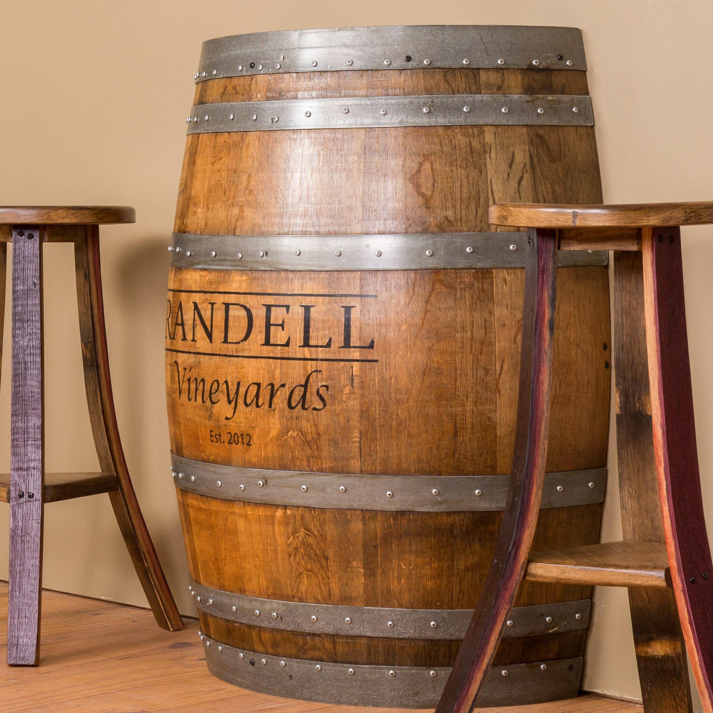 Demi Tonneau En Bois napa east collection personalized half barrel console table