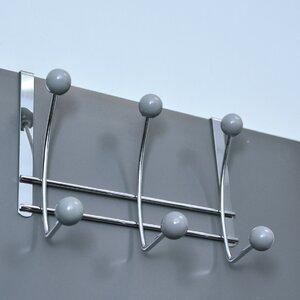 6-Hook Over-the-Door Hook Rack Evideco