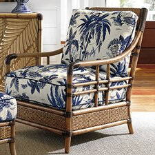 Twin Palms Seagate Armchair and Ottoman by Tommy Bahama Home