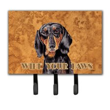 Dachshund Wipe Your Paws Key Holder by Caroline's Treasures