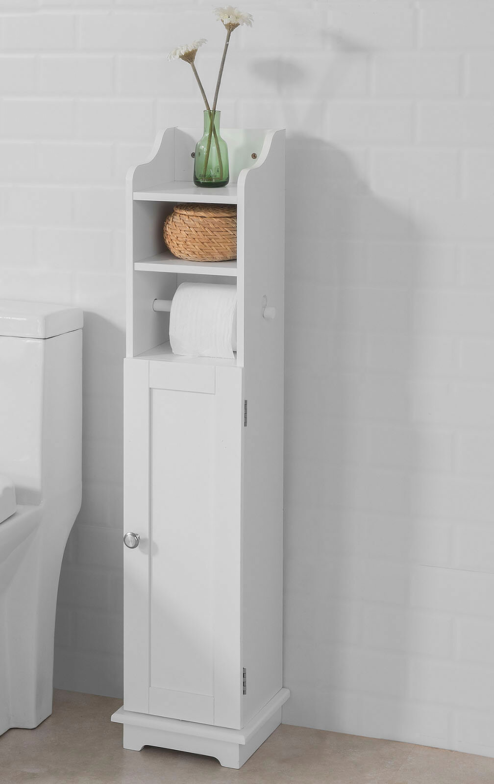 Brambly Cottage Knollview 20 X 100cm Free Standing Bathroom Cabinet Reviews Wayfair Co Uk