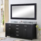 Minnetrista 72 Double Bathroom Vanity Set with Large Mirror by Andover Mills™