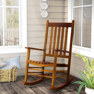 August Grove Lozano Mission Rocking Chair