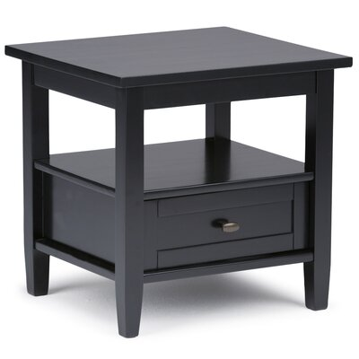 Alameda End Table with Storage Color: Black by Alcott Hill