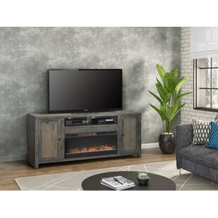 Lyla TV Stand for TVs up to 78 Fireplace by Loon Peak