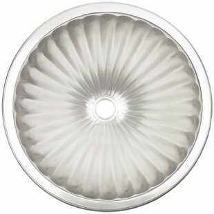 Comparison Fluted Metal Circular Undermount Bathroom Sink By Linkasink