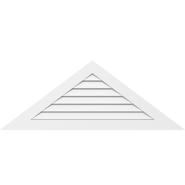 Ekena Millwork Triangle Surface Mount 6 12 Pitch Gable Vent In White Wayfair