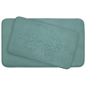 Reve 2 Piece Micro Plush Memory Foam Bath Mat Set