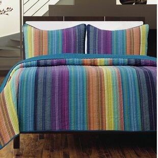 Blairsville 100% Cotton 3 Piece Reversible Quilt Set