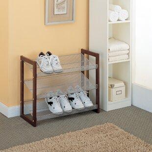 Organize It All Boston 3-Tier 12 Pair Stackable Shoe Rack