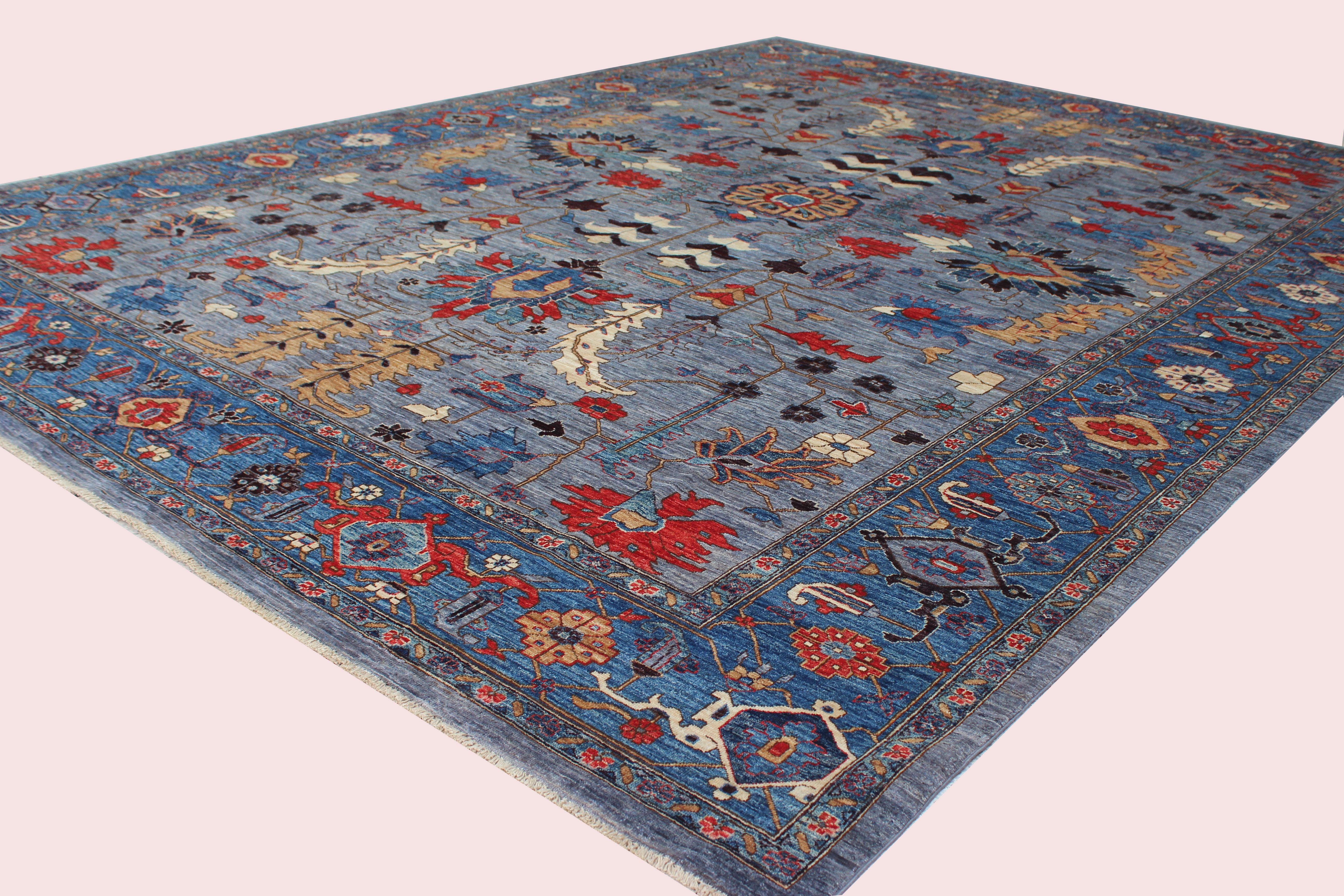 Bokara Rug Co Inc Aryana Oriental Hand Knotted Wool Gray Blue Area Rug Wayfair