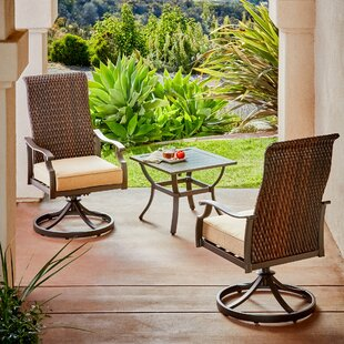 Bayou Breeze Kinlaw Rhone Valley 3 Piece Bistro Set with Cushions